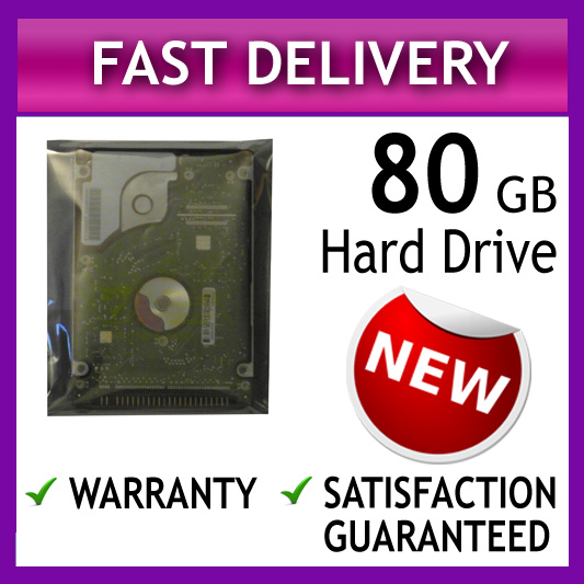 *1 YR WARRANTY* HITACHI 80GB LAPTOP IDE PATA ATA HARD DRIVE DISC DISK HDD 2.5""