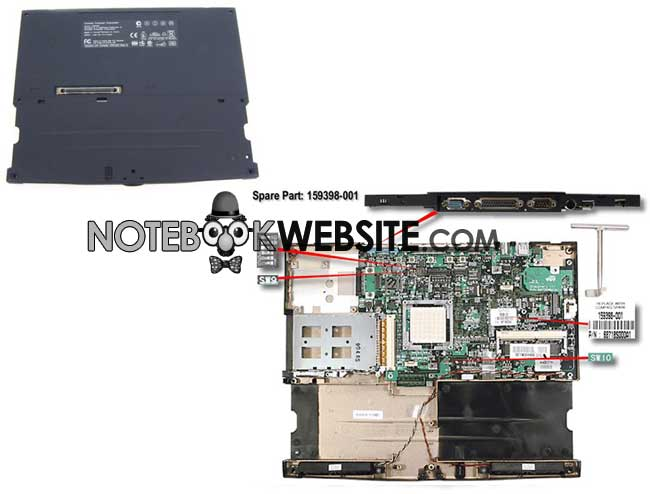 MB76 NEW Compaq 1900 Motherboard 159398-001 + Casing