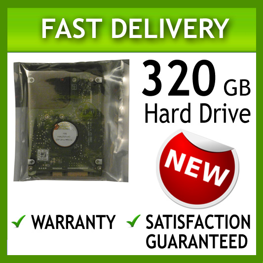 320GB HP Compaq TouchSmart tm2 tm2t tx2 tx2z Laptop Hard Drive
