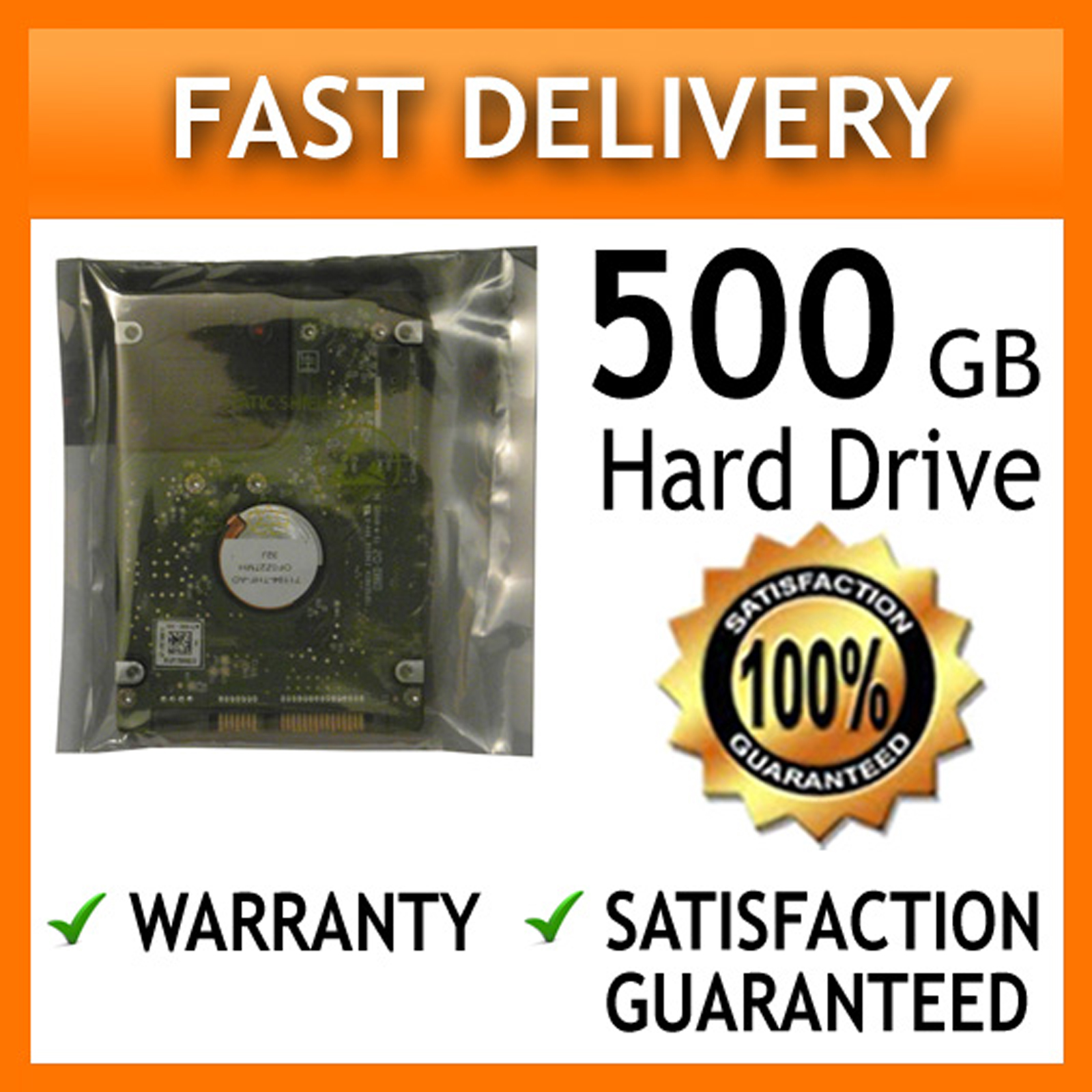 "500GB 60 DAYS WARRANTY 2.5"" SATA 9.5MM Internal Laptop Hard Drive FULLY TESTED"