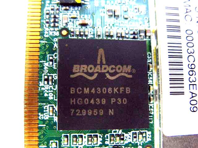 W11 BCM4306KFB Mini PCI Wireless Laptop WiFi Card