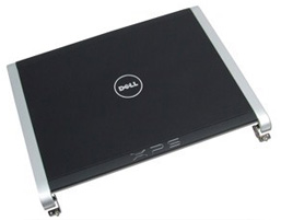NEW Dell XPS M1330 Black LCD Lid/Cover+Hinges+Wireless Antenna-CCFL HR170 0HR170