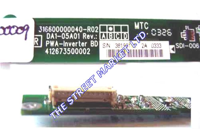 IR009 Inverter 316600000040-R02, DA1-05A01, Rev:B