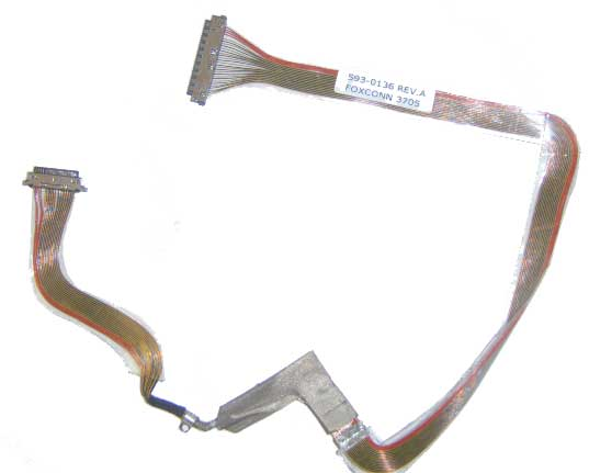 "IV172 PowerBook G4 Al 15"" A1138 LCD Cable 593-0136"