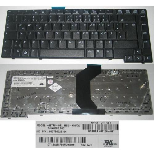 Deutsch German HP 6530B 6730B 487136-041 9J.N8282 468776-041 NSK-H4F0G Tastatur
