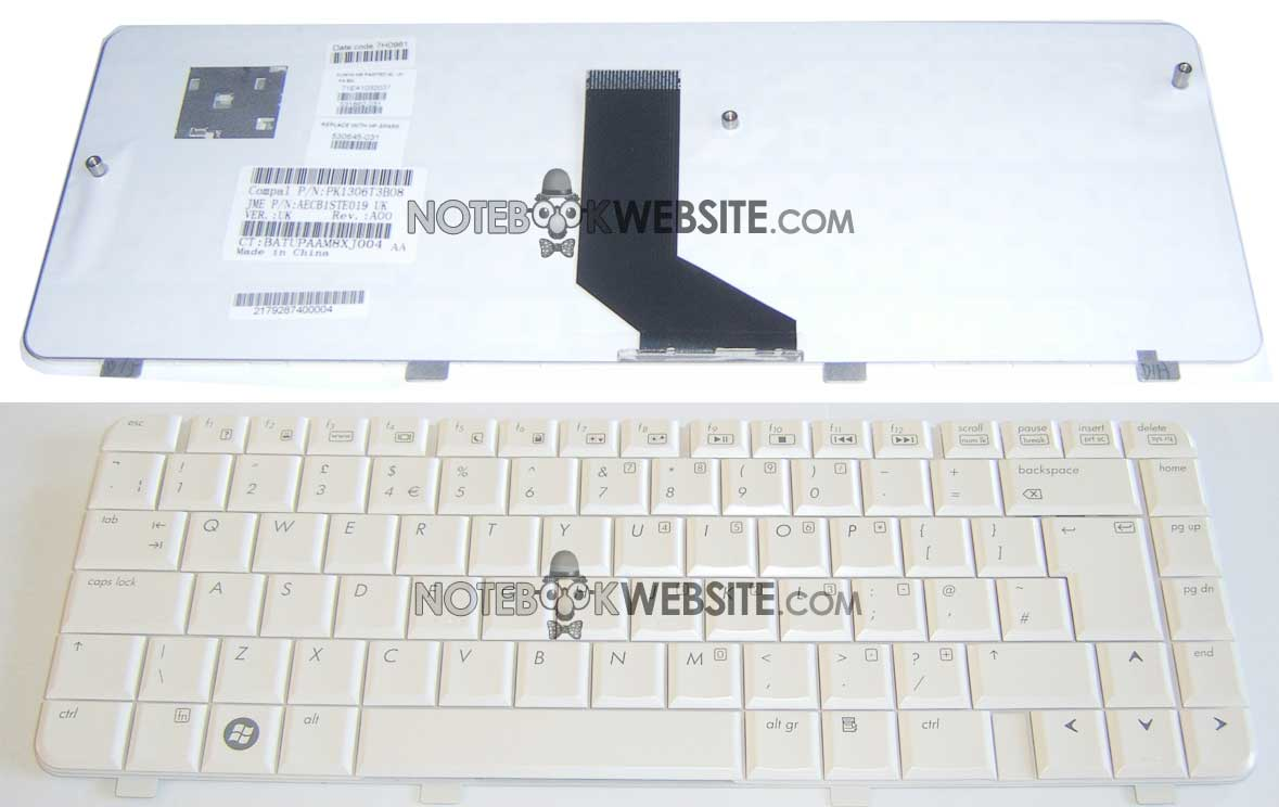 UK NEW HP PAVILION DV3-2005EE DV3-2010EL DV3-2004TX DV3-2005TX Keyboard White